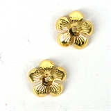 14k Gold filled Cap 10mm 2 pack-findings-Beadthemup