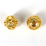 14k Gold Filled bead Rondel filligree 10x9mm 1 pack-14k gold filled-Beadthemup