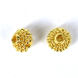 14k Gold Filled bead Rondel filligree 9x7.5mm 2 pack-14k gold filled-Beadthemup