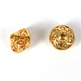 14k Gold filled bead rondel fillgree 12x13mm 1 pack-14k gold filled-Beadthemup