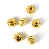 14k Gold filled bead rondel 4.7x4.5mm 2 pack-14k gold filled-Beadthemup