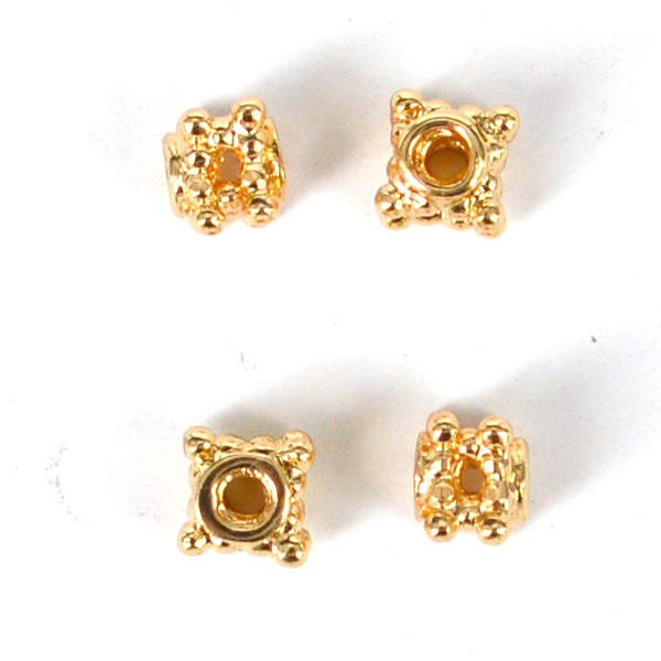 14k Gold filled bead multi hole daisy 5mm 6 pack Findings14k Gold