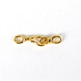 14k Gold filled clasp hook 22mm 2 pack-gold liquid sliver -Beadthemup