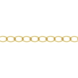 14k Gold filled chain cable 9x6mm per 50cm-findings-Beadthemup