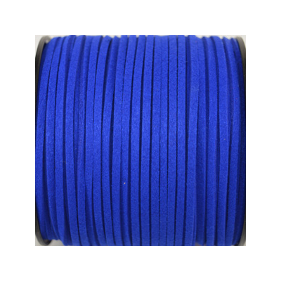 Faux Suede 3mm Royal Blue per Meter