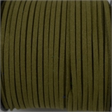 Faux Suede 3mm Olive Green per Meter-suede and faux suede-Beadthemup