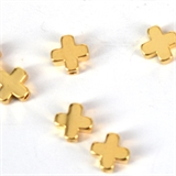 14K Gold Filled Bead Cross 6mm 2 pack-findings-Beadthemup