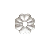 Sterling silver Flower Cap 4mm 10 pack-925 sterling silver-Beadthemup