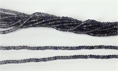 Iolite Shaded light-dark-light Fac.Rondel 2.5x 1.8mm str app 260 beads-beads incl pearls-Beadthemup