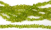 Peridot Fac.Top drill Briolette app 5x3.5mm str 100 beads-beads incl pearls-Beadthemup