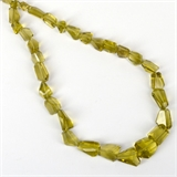 Olive Quartz Fac.Nugget app 15x12mm str 30 beads-quartz whisky champagne beer and honey-Beadthemup