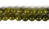 Green Garnet Pol.Round 8mm EACH BEAD-gemstone beads-Beadthemup