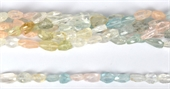 Aquamarine Fac.Nugget app 12x9mm str 32 beads-gemstone beads-Beadthemup