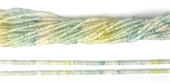 Aquamarine Fac.Rondel multicolour 3x2mm str 228 beads-gemstone beads-Beadthemup