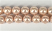 Shell Based Pearl Pink Round 16mm str 25 beads-shell based pearls-Beadthemup