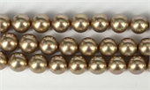 Shell Based Pearl Beige Round 14mm str 29 beads-shell based pearls-Beadthemup