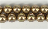 Shell Based Pearl Beige Round 16mm str 25 beads-shell based pearls-Beadthemup