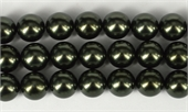 Shell Based Pearl Dk Grey Round 14mm str 29 beads-shell based pearls-Beadthemup