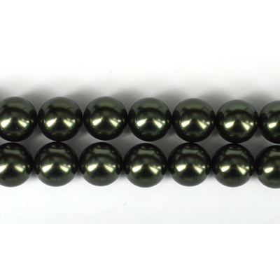 Shell Based Pearl Dk Grey Round 16mm str 25 beads