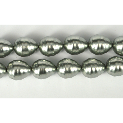 Shell Based Pearl Silver Teardrop 17x14mm per PAIR
