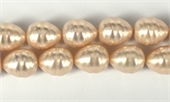 Shell Based Pearl Pink Teardrop 17x14mm per PAIR-shell based pearls-Beadthemup