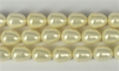 Shell Based Pearl White Teardrop 15x12mm Per Pair-shell based pearls-Beadthemup