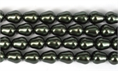 Shell Based Pearl Dk Grey Teardrop 12x10mm Str 32 beads-shell based pearls-Beadthemup