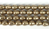 Shell Based Pearl Beige Teardrop 12x10mm Str 32 beads-shell based pearls-Beadthemup