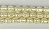 Shell Based Pearl White Teardrop 12x10mm Str 32 beads-shell based pearls-Beadthemup
