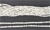 Howlite Synthetic White Pol. Round 2mm Str approx. 204 beads-howlite-Beadthemup