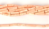 Synthetic Peach Tube approx. 20mm x 4mm Str 22 beads-resin-Beadthemup