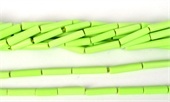 Synthetic Lime Tube approx. 18mm x 4mm Str 22 beads-resin-Beadthemup