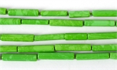 Synthetic Green Tube approx. 16mm x 4mm Str 22 beads-resin-Beadthemup