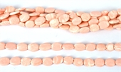 Synthetic Peach Oval 10mm x 7mm Str 38 beads-resin-Beadthemup