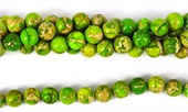 Imperial Jasper Dyed Lime pol.Round 10mm 40 beads-jasper-Beadthemup