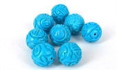 Howlite Dyed Carved 18mm bead EACH BEAD-howlite-Beadthemup