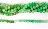 Chrysophase Pol.Round 8mm str 42 beads-beads incl pearls-Beadthemup