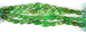 Chrysophase Pol.Teardrop 1/2 strand str 12 beads-chrysophase-Beadthemup