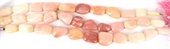Pink Opal Pol.Nugget 18mm 1/2 strand 11 beads-gemstone beads-Beadthemup