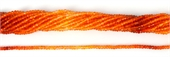 Carnelian Grad colour.Fac.Rondel 3x2mm str 160 beads-gemstone beads-Beadthemup