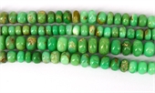 Chrysophase Pol.Rondel app 9x5mm str 59 beads-chrysophase-Beadthemup