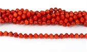 Coral Red Lantern 6mm str 63 beads-gemstone beads-Beadthemup