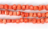Coral Apricot Stick side drill 12x12mm str 36 beads-beads incl pearls-Beadthemup