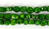Coral Green Nugget 16mm str 22 beads-gemstone beads-Beadthemup