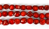Coral Red Nugget 16mm str 24 beads-gemstone beads-Beadthemup