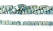 Aquamarine Fac.Wheel 9x6mm str 50 beads-gemstone beads-Beadthemup