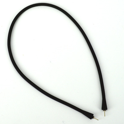 Silica Rubber Necklace with Rhodium plate Brass Pin 40cm