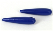 Shell based Pearls Blue Briolette 10x38mm PAIR-shell based pearls-Beadthemup