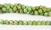 Agate Dyed Mint Green Fac.Round 12mm str 33 beads-agate-Beadthemup