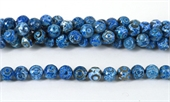 Agate Dyed Blue Fac.Round 12mm str 33 beads-agate-Beadthemup